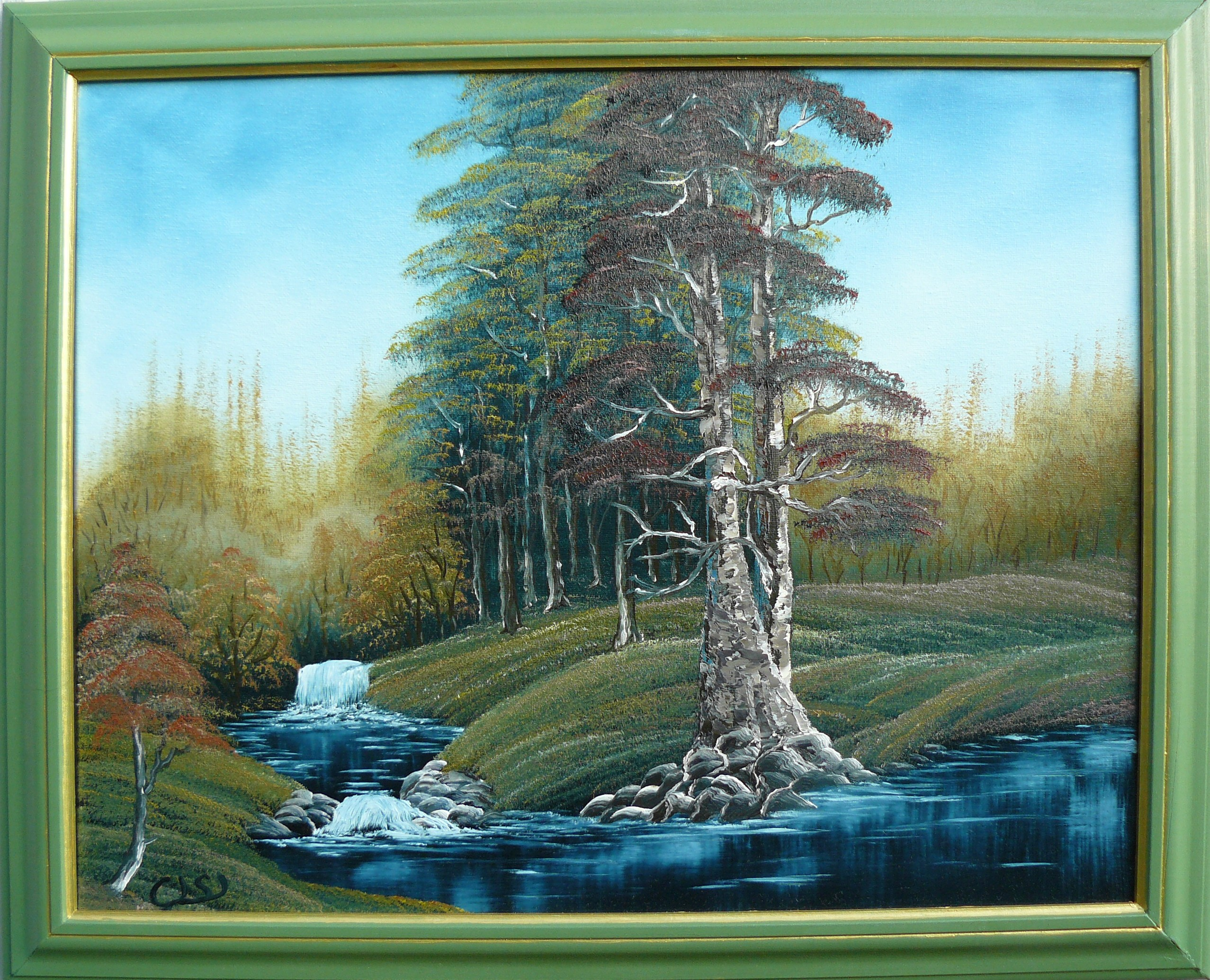 """Black forest river"". 2011. 40X50 cm."