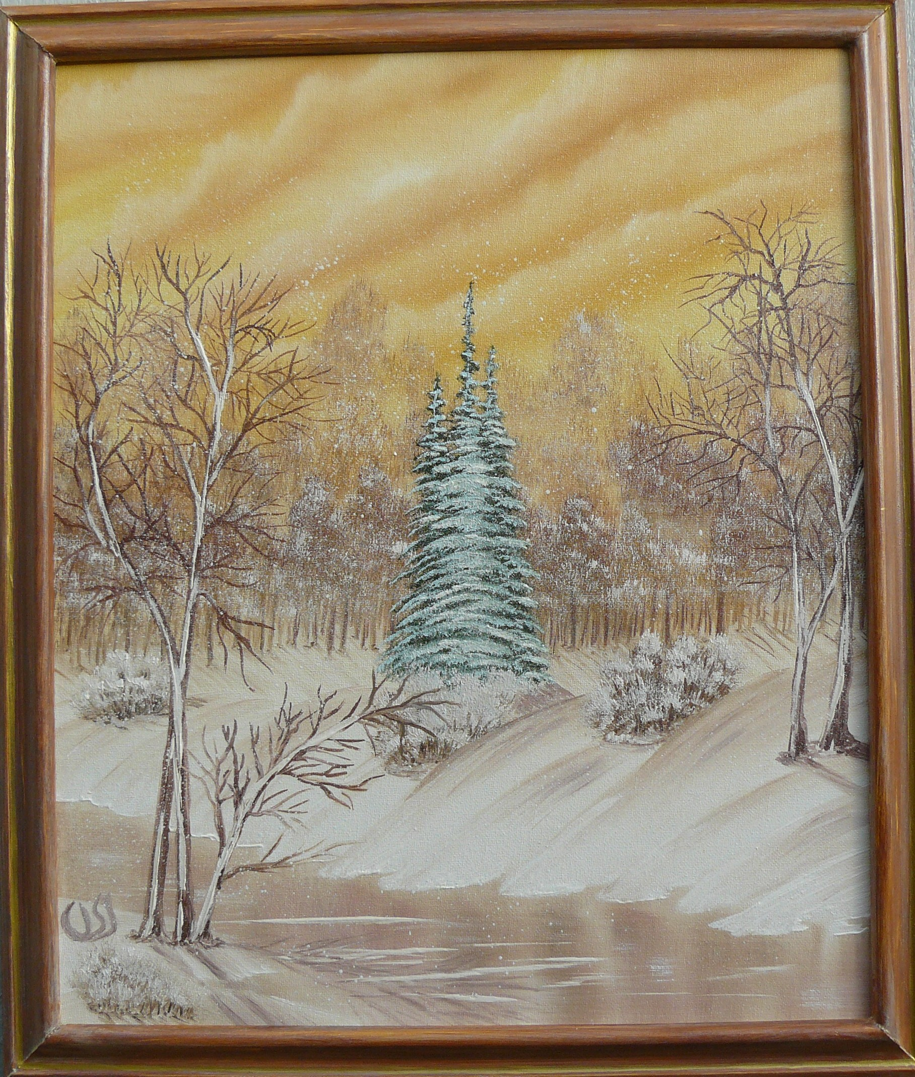 """Magic snowfall"". 2011. 40X50 cm."