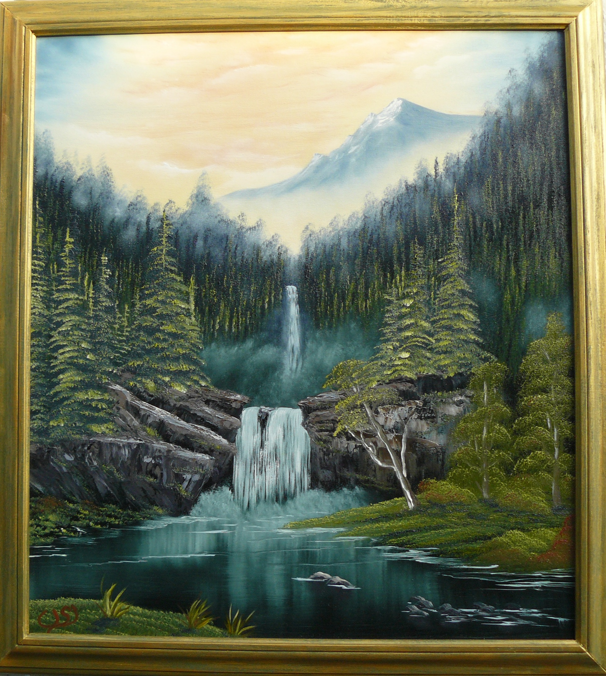 """Falls in the Glen"". 2011. 40X50 cm."