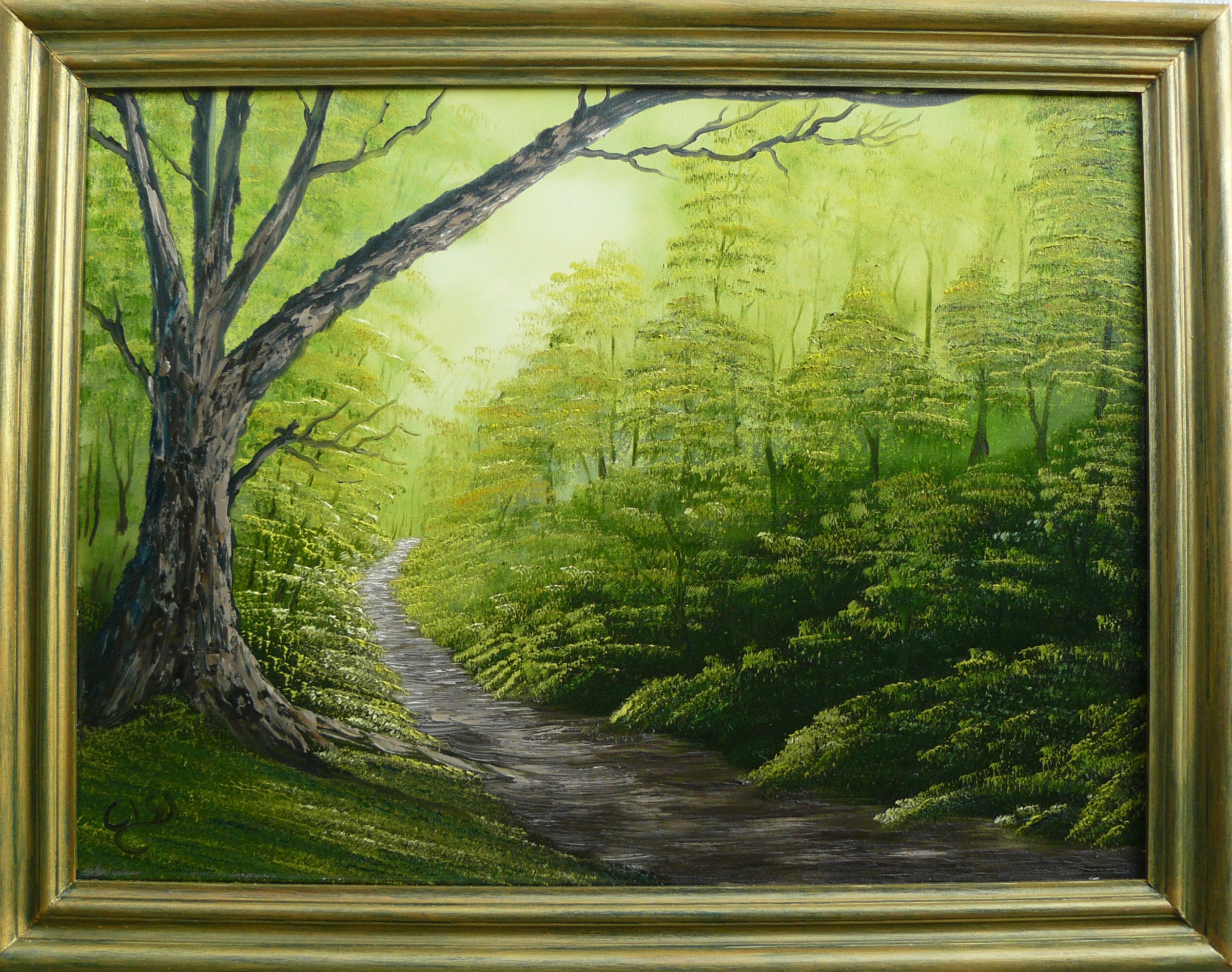 """Forest edge"". Examensprov. London 2011. 60X50 cm."
