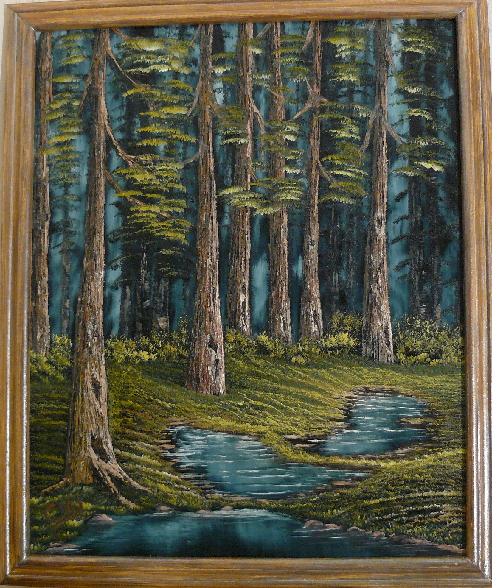 """Three small ponds deep in the forest"". 2012. Olja, 50X40 cm."
