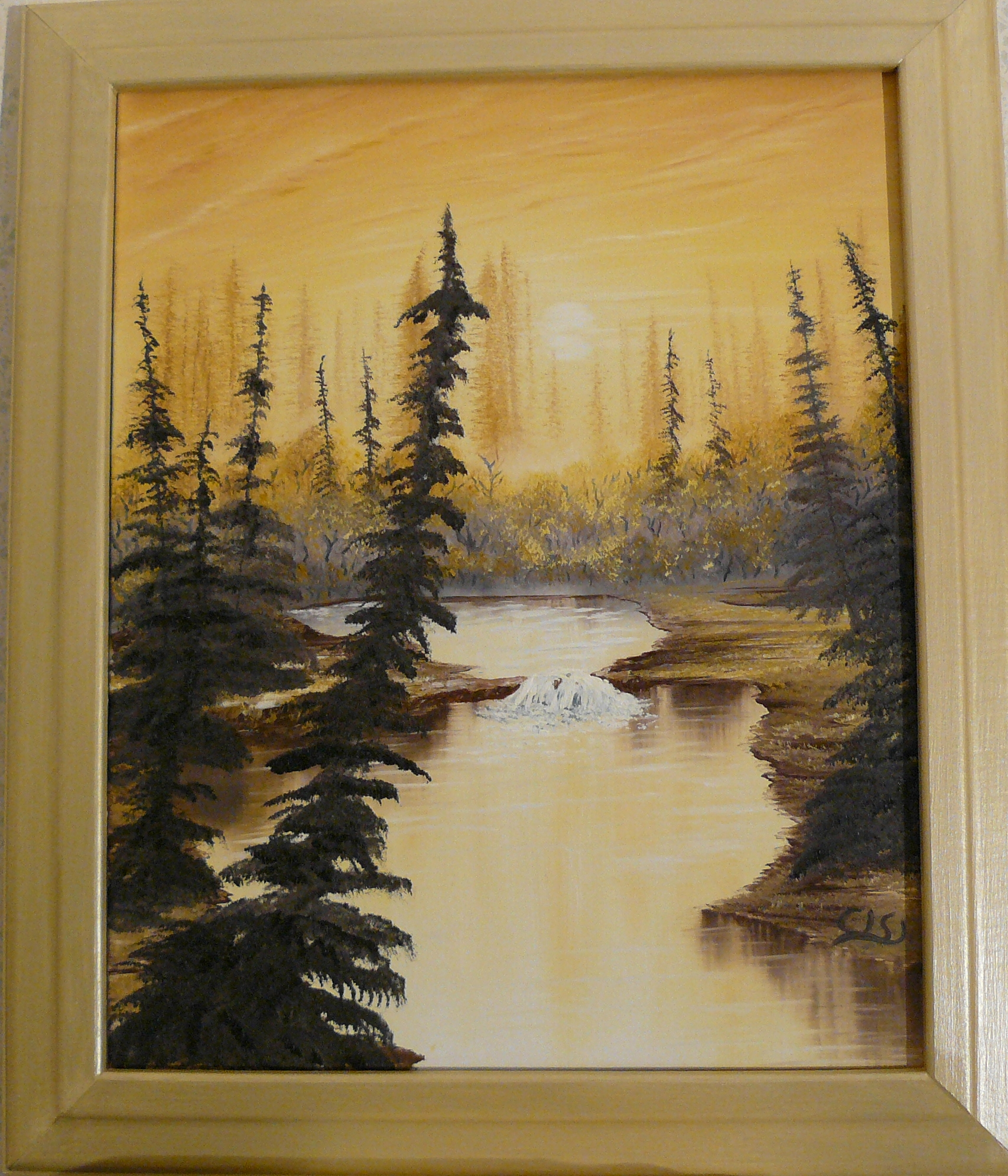"""Golden forest in sunlight"". 2011. 40X50 cm."