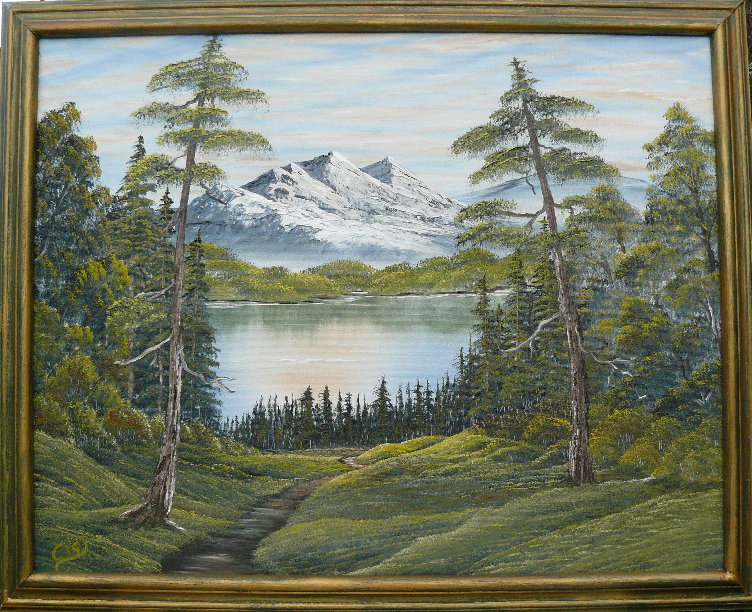 """Lonely Lake by the mountain"". 2012. Olja på duk, 40x50 cm."