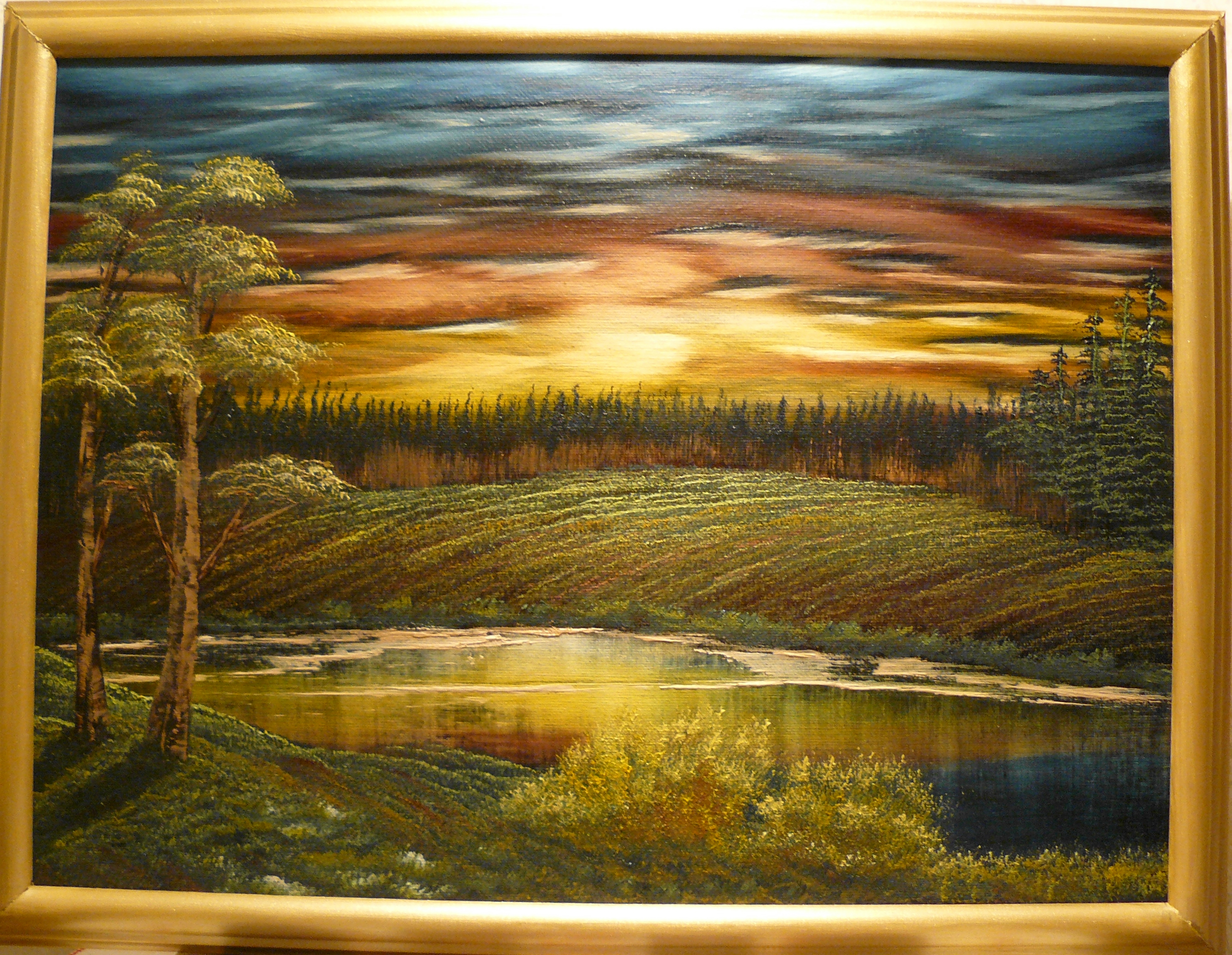 """Evening at the sunset"". 2012. Olja på duk, 40x50 cm."