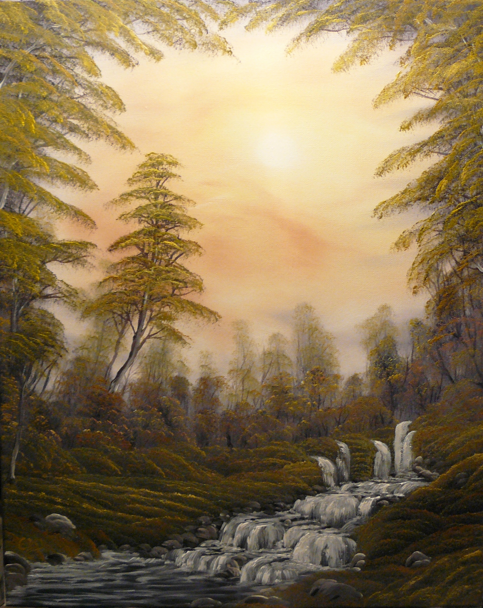 """Forest bubbeling brook"". 2012. Olja, 40X50 cm."