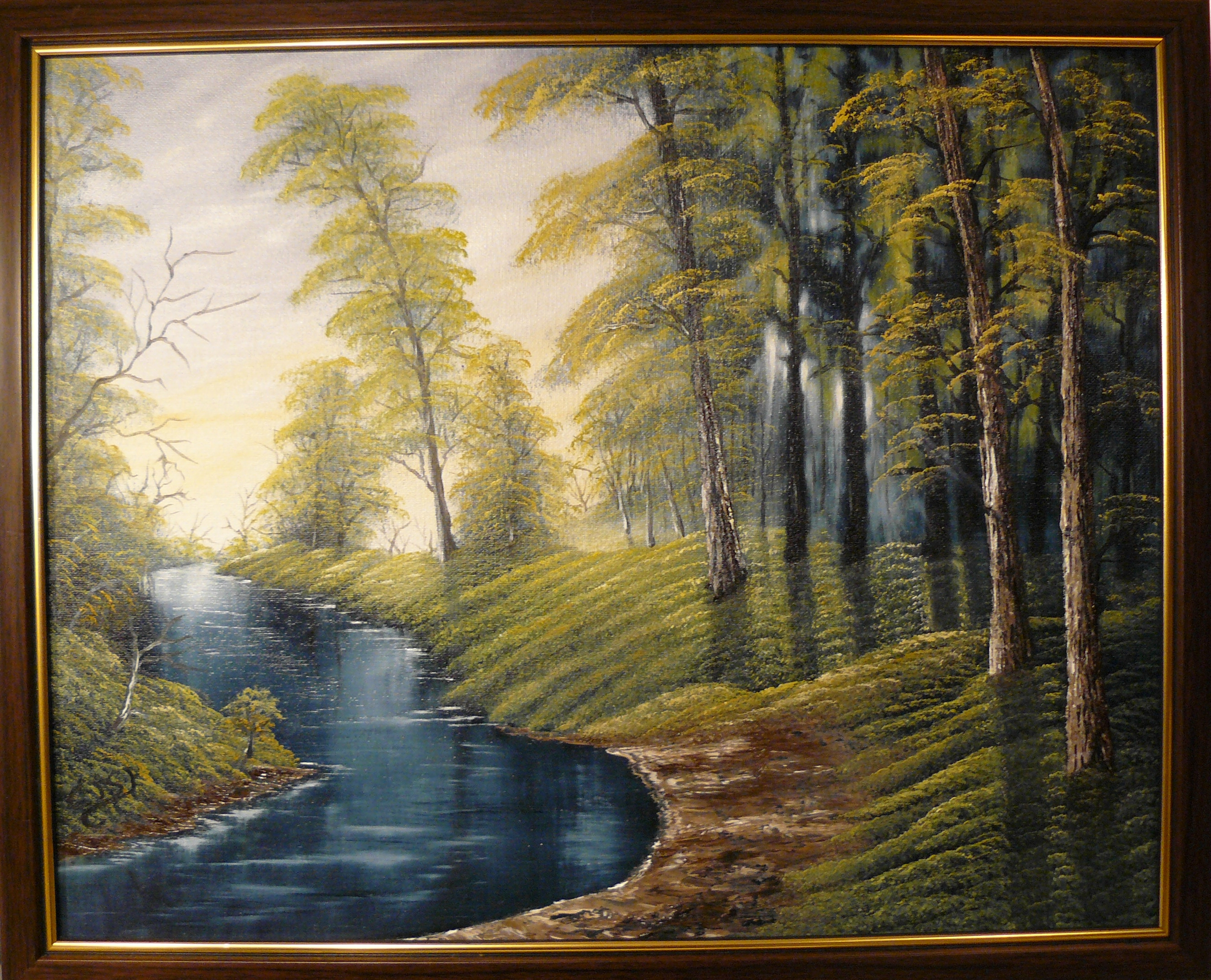 """Hidden creek"". 2012. Olja, 50x40 cm."