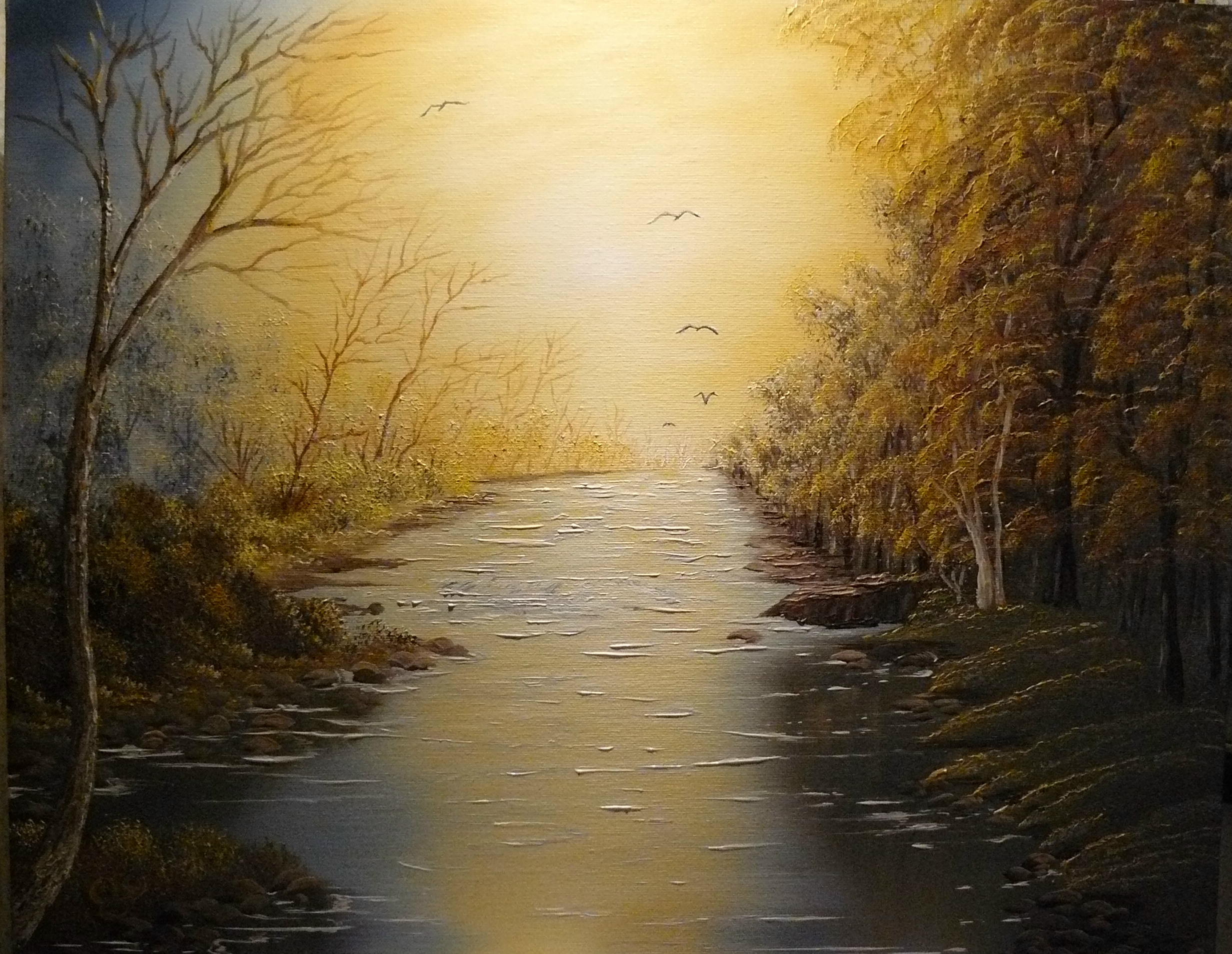 """Rivers peace"". 2012. 40X50 cm."