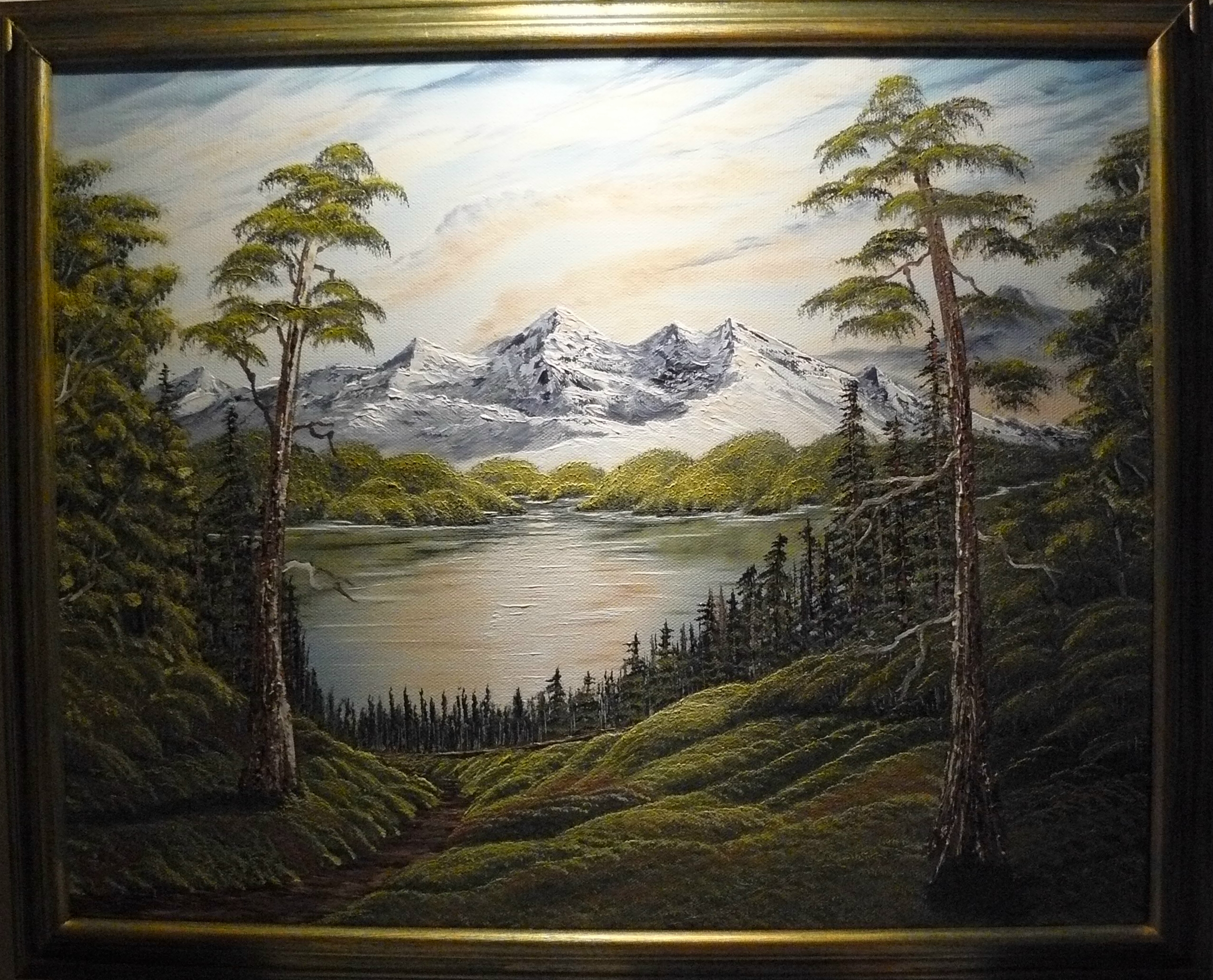 """Lonely lake by the mountains"". 2012. 40X50 cm."